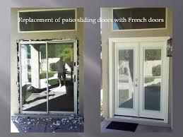 fabulous patio sliding door repair removing patio sliding door and installing french doors with mini
