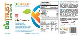 biotrust low carb nutrition and ings