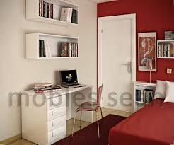 Kids Room Design: Beech White Kids Small Study Room Area - Kids Room