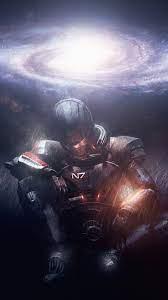 Wallpaper Mass Effect, warrior, galaxy ...