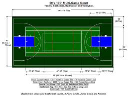 sport court dimensions. Beautiful Dimensions 50u2032 X 100u2032 MultiGame Court Intended Sport Dimensions U