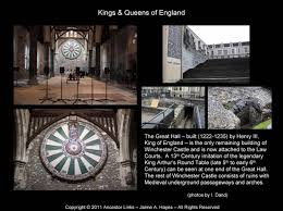 kings queens of england winchester castle the great hall king arthur s round