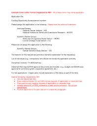 Nih Cover Letter Sample The Best Letter Sample