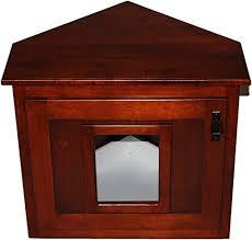 corner cat litter box furniture. Amazon.com: Corner Hidden Cat Litter Enclosure Oak Wood Furniture, Wooden Kitty Box: Pet Supplies Box Furniture R