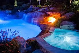 pool waterfall lighting. Color LED Swimming Pool Lights Mahwah, Bergen County NJ Tropical-swimming- Waterfall Lighting S