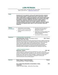 Elementary Education Resume Examples Inspiration Teacher Resume Sample Professor Resume Example Casual Relief