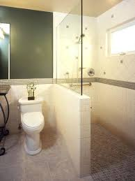 shower half wall with glass no door or instead of a small unit typical height shower half wall