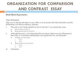 Compare And Contrast Essay Outlines Compare Contrast Essay Examples Middle School Contrasting Example