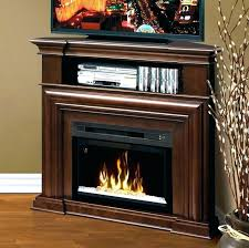 small electric fireplace stand elegant corner heater with thermostat