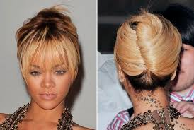 Twist Hair Style rihanna french twist hairstyle medium hair styles ideas 9309 2208 by stevesalt.us