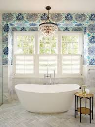 Eclectic Bathroom Impressive Can You Use Wallpaper In A Bathroom