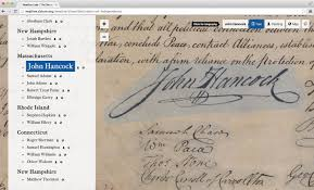 the digital declaration of independence david mcclure click on sentences in the transcription to focus on the corresponding region of the scanned image or click on annotated blocks on the image to scroll the