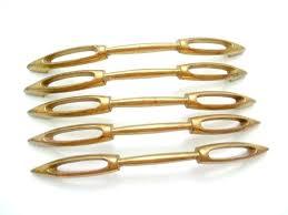 modern brass cabinet pulls. Mid Century Modern Cabinet Handles 5 Vintage Brass Drawer Pulls