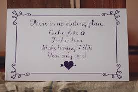 Wedding Seating Chart Wording Wedding Reception No Seating Chart Wording My Bride Came