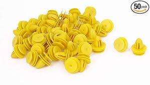 uxcell 50Pcs Yellow Plastic Rivet Clips 8mm x 11mm ... - Amazon.com