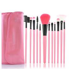 12pcs affordable makeup brush set pink handle womens makeup brush kits foundation brush best makeup