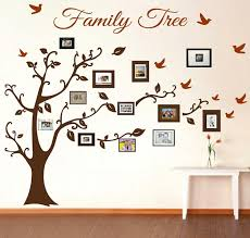 sumptuous design family tree photo wall decal art decor frame ideas sticker