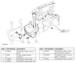 2006 ford explorer rear windshield washer reservior 2006 ford Ford Rear Wiper Motor Wiring Diagram the windshield washer and the rear window washer are activated by the internal wiper motor modules when they receive a ground from the multi function switch 2005 Ford Explorer Wiper Motor Schematic
