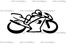 Samolepka Motorka 102054 30kč Autodoplňky Samolepky Nosiče