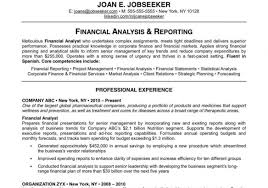 Example Of Financial Analyst Resume Template Best Financial