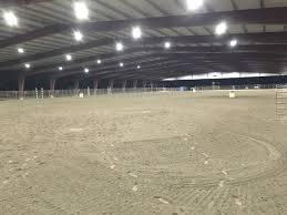 Horse Arena Lights Major Led Lighting Upgrade At Ca Equestrian Center Eledlights