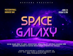 Space Galaxy Landscape Size Flyer Template Postermywall