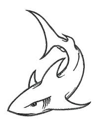 Great White Shark Outline Drawing Free Download Best Great