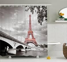 eiffel tower bathroom decor  compare price to paris theme shower curtain tragerlawbiz
