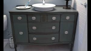 diy bathroom vanity from dresser