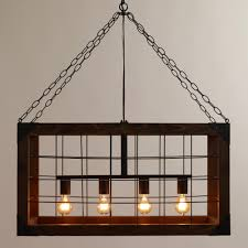 Rustic Kitchen Light Fixtures Rectangular Farmhouse Pendant Lamp Lamps Four Corners And Chic