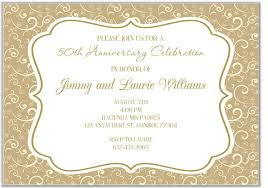 50th Anniversary Party Invitations 50th Anniversary Invitations Misc Occasions