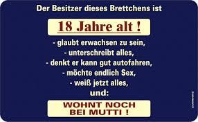 18 Geburtstag Spruche Lustig