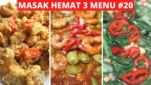 Kalau terlalu bosan untuk makan di luar namun masih ragu untuk masak sendiri, jangan khawatir 10 resep masakan indonesia. Masak Hemat 3 Menu Part 20 Resep Masakan Indonesia Sehari Hari Sederhana Dan Praktis Youtube