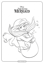 Is your little princess madly in love with mermaids? Printable The Little Mermaid Ariel Coloring Pages