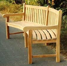 teak garden bench big classic curved