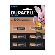 <b>Duracell Ultra</b> Alkaline <b>AAA Battery</b>, 6 Pieces: Amazon.in: Electronics