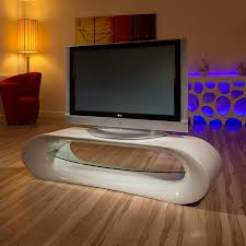 ultra modern curved tv standcabinetunit large  metre grey