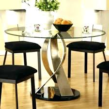 dining table round glass tables modern
