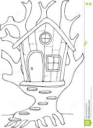 Fairy Tree House Coloring Pages