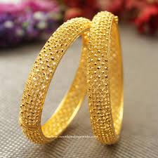 New Latest Gold Bangles Design Big Broad Gold Bangles From Manubhai Jewellers Gold