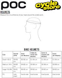Poc Bike Helmet Size Chart Poc Tectal Race Spin Mtb Helmet 51 54cm