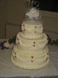 Simple Hearts 3 Tier Wedding Cake Cakecentralcom