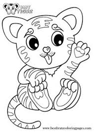 Small Picture Learning Friends Tiger baby animal coloring printable from