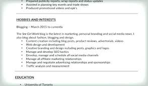 Hobbies For Resume Classy Hobbies Interest Resume Nmdnconference Example Resume And