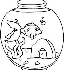 Small Picture A Fish Feeling Lonely in Fish Tank Coloring Page NetArt