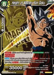 Height Of Mastery Son Goku Cardmarket