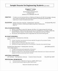 Engineering Student Resume Template Beautiful 8 Objective