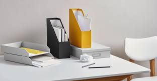 home office set. a made essentials stationery set in yellow home office