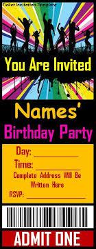 Invitation Ticket Template Free Ticket Invitation Template diabetesmang 54