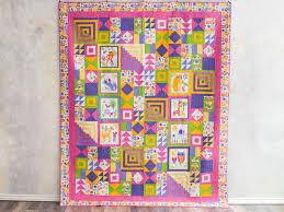 92 best D9P images on Pinterest   Scraps quilt, Patch quilt and ... & Animal Crackers Sweet Purple Quilt Kit Adamdwight.com